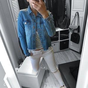Jackets & Blazers - 🆕 Denim Jacket with Side Lace Detail